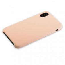 """Чехол-накладка силиконовый Hoco Silicone Case для iPhone XS/ X (5.8"""") Розовый-песок"""