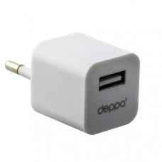 Набор Deppa Ultra D-11102: АЗУ+СЗУ 1.2А, дата-кабель 8-pin Lightning для Apple 1.2 м, Белый