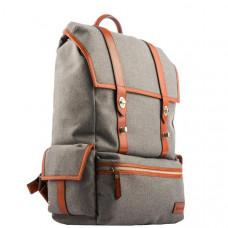 Рюкзак i-Carer 420x350x170mm Leather and Fabric Durable Travel Hiking Backpack (RSJ-01-B1grey) Серый