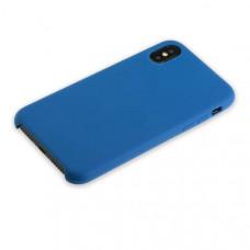 "Чехол-накладка силиконовый Hoco Silicone Case для iPhone XS/ X (5.8"") Темно синий"