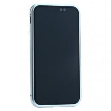 """Чехол закаленное стекло с магнитной рамкой Baseus Magnetite Hardware (WIAPIPH61-CS0S) для iPhone XR (6.1"""") Серебристый"""