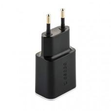 Адаптер питания Deppa Wall charger 3.4A D-11386 (USB + USB Type-C) Черный