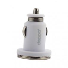 Разделитель автомобильный Deppa Ultra MFI 3.4A D-11256 + витой дата-кабель 8-pin Lightning 1.5м (2USB: 5V 1A & 5V 2.4A) Белый
