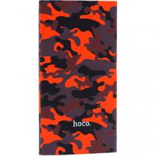 Аккумулятор внешний универсальный Hoco J9-10000 mAh Camouflage Series Power Bank (USB: 5V/2.1A Max) Камуфляж-красный