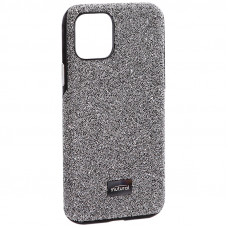"""Чехол-накладка силиконовый со стразами Mutural для Iphone 11 Pro (5.8"""") Серебристый вид 2"""