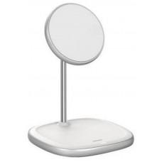 Беспроводное зарядное устройство Baseus Swan для Apple iPhone 12 Series Wireless Charger (WXSW-02) Белый