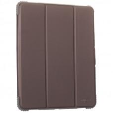 """Чехол-подставка Mutural Folio Case Elegant series для iPad Pro (12.9"""") 2021г. кожаный (MT-P-010504) Графитовый"""