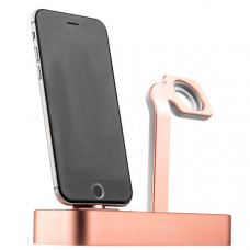 Док-станция COTEetCI Base5 Dock для Apple Watch & iPhone X/ 8 Plus/ 8/ SE 2in1 stand CS2095-MRG Pink-gold - Розовое золото