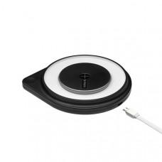 Беспроводное зарядное устройство Deppa D-24008 Qi Fast Charger ночник 10W (9В/1.2А, 5В/1.5А, 5В/1А) Черный