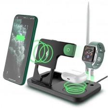 Беспроводное зарядное устройство OFIYAA OPTIMUS 4в1 для Apple iPhone/ Watch 1-5series/ Air Pods /ApplePen Wireless Charger (OW-01) Черная