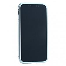 """Чехол закаленное стекло с магнитной рамкой Baseus Magnetite Hardware (WIAPIPH58-CS0S) для iPhone XS/ X (5.8"""") Серебристый"""