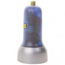 Разделитель автомобильный Baseus Particular Digital Display 65W Car Charger (USB:4.5V&5A, Type-C:5V&3A) CCKX-C0A Серебро