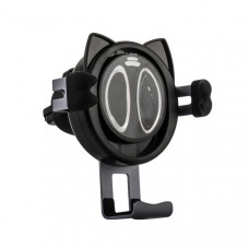 Автомобильное беспроводное Qi зарядное устройство Remax RP-WZJ7 Car Wireless Rapid Charger (5-9V/ 1.3A 5-10W) Черный