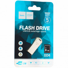 Флеш-накопитель Hoco UD4 Intelligent high-speed Flash Drive metal 8Gb Серебристый