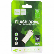Флеш-накопитель Hoco UD4 Intelligent high-speed Flash Drive metal 128Gb Серебристый