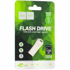 Флеш-накопитель Hoco UD4 Intelligent high-speed Flash Drive metal 128Gb Серебристый