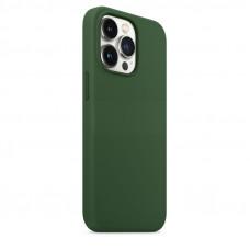"""Накладка силиконовая MItrifON для iPhone 13 (6.1"""") без логотипа Темно-зеленый"""