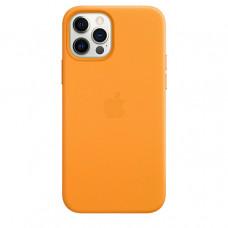 Кожаный чехол Leather MagSafe для iPhone 12 Pro Max