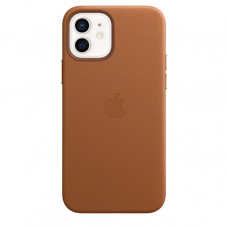 Кожаный чехол Leather MagSafe для iPhone 12 и iPhone 12 Pro