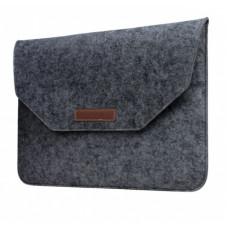 Чехол для Macbook Air/Pro 13 Velcro Case темно-серый фетровый