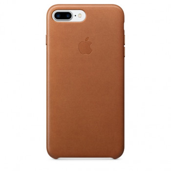 Чехол iPhone 7/8 Plus Leather Case Saddle Brown