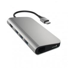 Адаптер Satechi Aluminum Type-C Multi-Port 4K HDMI, Ethernet, Space Gray [ST-TCMAM]