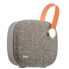 Портативный динамик Hoco BS8 Plain textile desktop wireless speaker Gray Серый