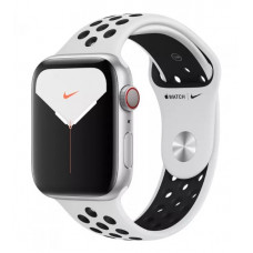 Часы Apple Watch Nike Series 5 GPS+Cellular 44mm Silver Aluminum Case with Pure Platinum/Black Nike Sport Band