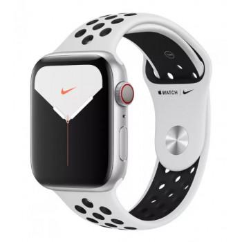 Часы Apple Watch Nike Series 5 GPS+Cellular 44mm Silver Aluminum Case with Pure Platinum/Black Nike Sport Band