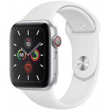 Часы Apple Watch Series 5 GPS+Cellular 40mm Silver Aluminum Case with White Sport Band