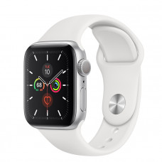 Часы Apple Watch Series 5 GPS 44mm Silver Aluminum Case with White Sport Band