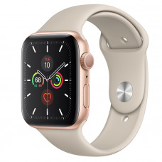 Часы Apple Watch Series 5 GPS 44mm Gold Aluminum Case with Stone Sport Band