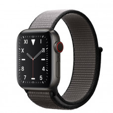 Часы Apple Watch Edition Series 5 GPS + Cellular 40mm Space Black Titanium Case with Anchor Gray Sport Loop
