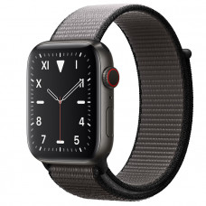 Часы Apple Watch Edition Series 5 GPS + Cellular 44mm Space Black Titanium Case with Anchor Gray Sport Loop
