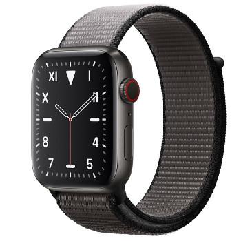 Часы Apple Watch Edition Series 5 Cellular 44mm Space Black Titanium with Anchor Gray Sport Loop