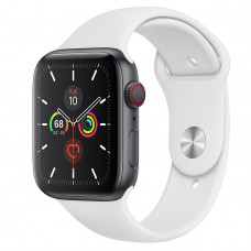 Часы Apple Watch Edition Series 5 GPS + Cellular 44mm Space Black Titanium Case with White Sport Band