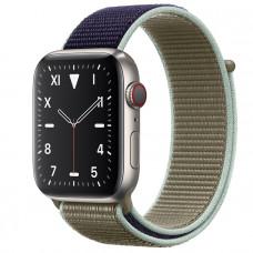 Часы Apple Watch Edition Series 5 GPS + Cellular 44mm Titanium Case with Khaki Sport Loop