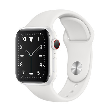 Часы Apple Watch Edition Series 5 GPS + Cellular 44mm White Ceramic Case with White Sport Band