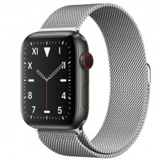 Часы Apple Watch Edition Series 5 GPS + Cellular 44mm Titanium Case with Silver Milanese Loop
