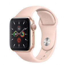 Часы Apple Watch Series 5 GPS 44mm Gold Aluminum Case with Pink Sand Sport Band