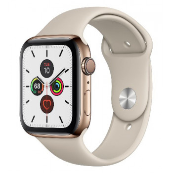 Часы Apple Watch Series 5 GPS 40mm Gold Aluminum Case with Stone Sport Band