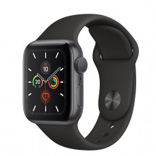 Часы Apple Watch Series 5 GPS 40mm Space Gray Aluminum Case with Black Sport Band  MWV82RU/A