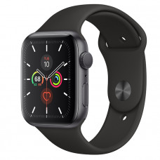 Часы Apple Watch Series 5 GPS 44mm Space Gray Aluminum Case with Black Sport Band MWVF2RU/A