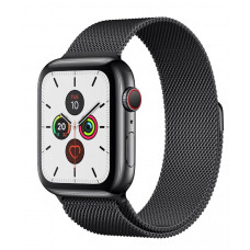 Часы Apple Watch Series 5 GPS+Cellular 40mm Space Black Stainless Steel Case with Space Black Milanese Loop