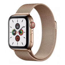 Часы Apple Watch Series 5 GPS + Cellular 40mm Gold Stainless Steel Case with Gold Milanese Loop