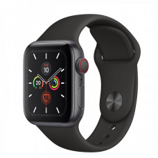 Часы Apple Watch Series 5 GPS+Cellular 40mm Space Gray Aluminum Case with Black Sport Band