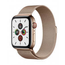Часы Apple Watch Series 5 GPS+Cellular 44mm Gold Stainless Steel Case with Milanese Loop