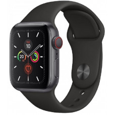 Часы Apple Watch Series 5 GPS + Cellular 44mm Space Black Stainless Steel with Black Sport Band