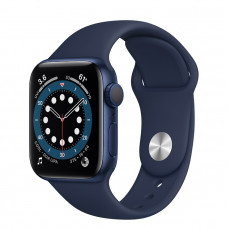 Часы Apple Watch Series 6 GPS 40mm Blue Aluminum Case with Deep Navy Sport Band MG143RU/A