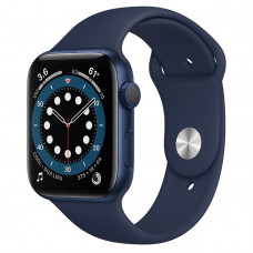 Часы Apple Watch Series 6 GPS 44mm Blue Aluminum Case with Deep Navy Sport Band M00J3
